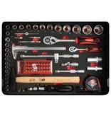 MW Tools Gereedschapskoffer 134-delig