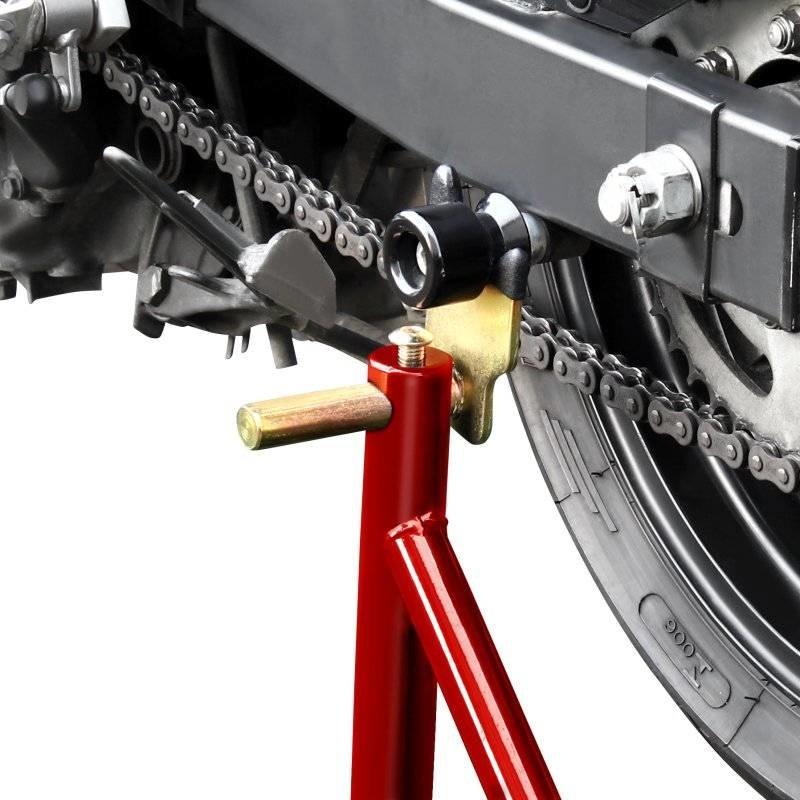 Paddockstand achterwiel Bobbins rood