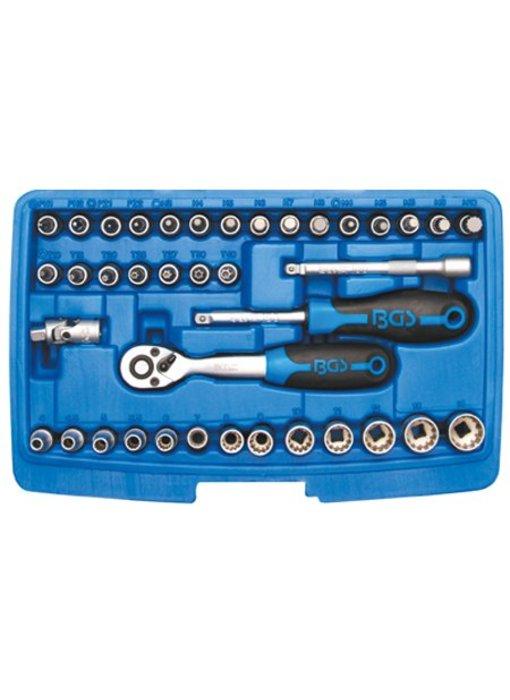 BGS 39-delige 1/4'' gear lock doppendoos veeltand