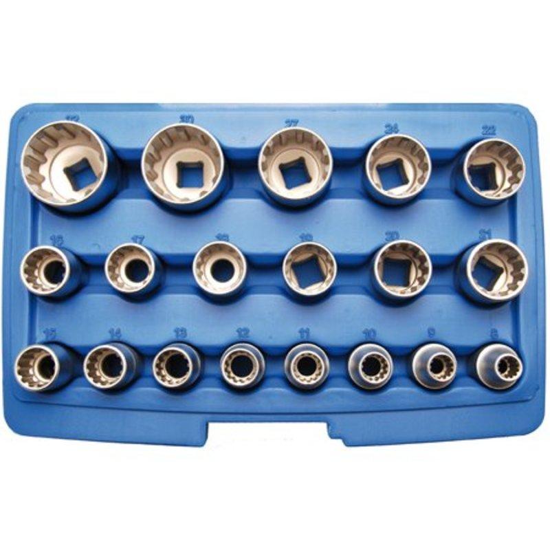 BGS 19-delige 1/2'' gear lock doppendoos veeltand