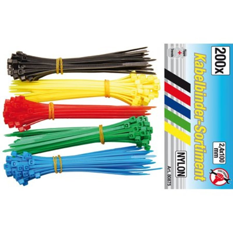 BGS Kabelbinders/ tie wraps 200-delig