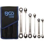 BGS 3-delige ringratelsleutel 4-in-1