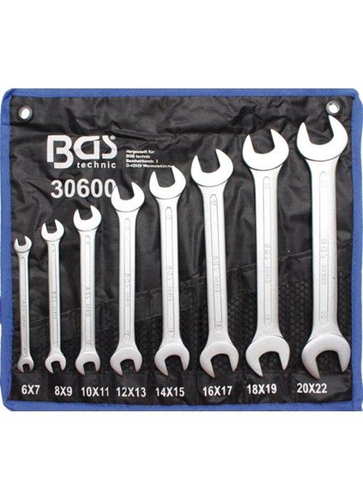 BGS 8-delige steeksleutelset 6-22mm