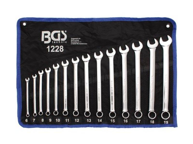 BGS 14-delige steekring sleutelset Lang 6-19 mm