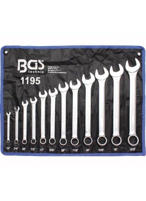 BGS Steek- ringsleutels set 1/4''- 15/16''