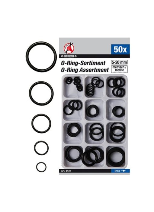 BGS O -ring assortiment 5-20 mm