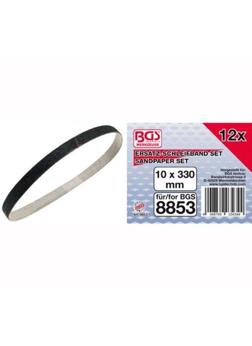 BGS Schuurpapier voor bandschuurmachine 10 mm x 330 mm