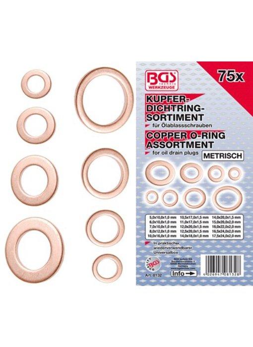 BGS Koperen ringen 75-delig Metrisch