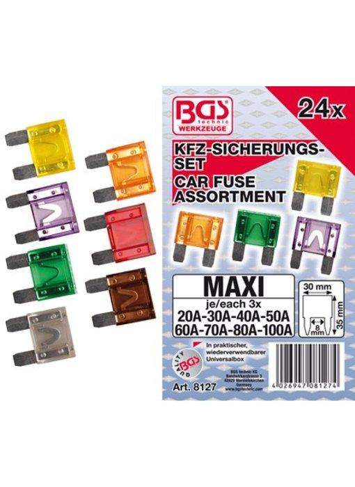 BGS Auto zekeringen 24-delig MAXI