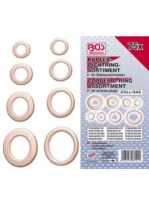 BGS Koperen ringen 75-delig Inches