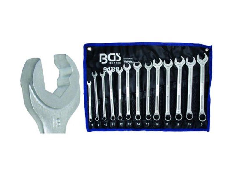 """BGS 13-delige steek-ring sleutelset met """"ratel""""-functie"""