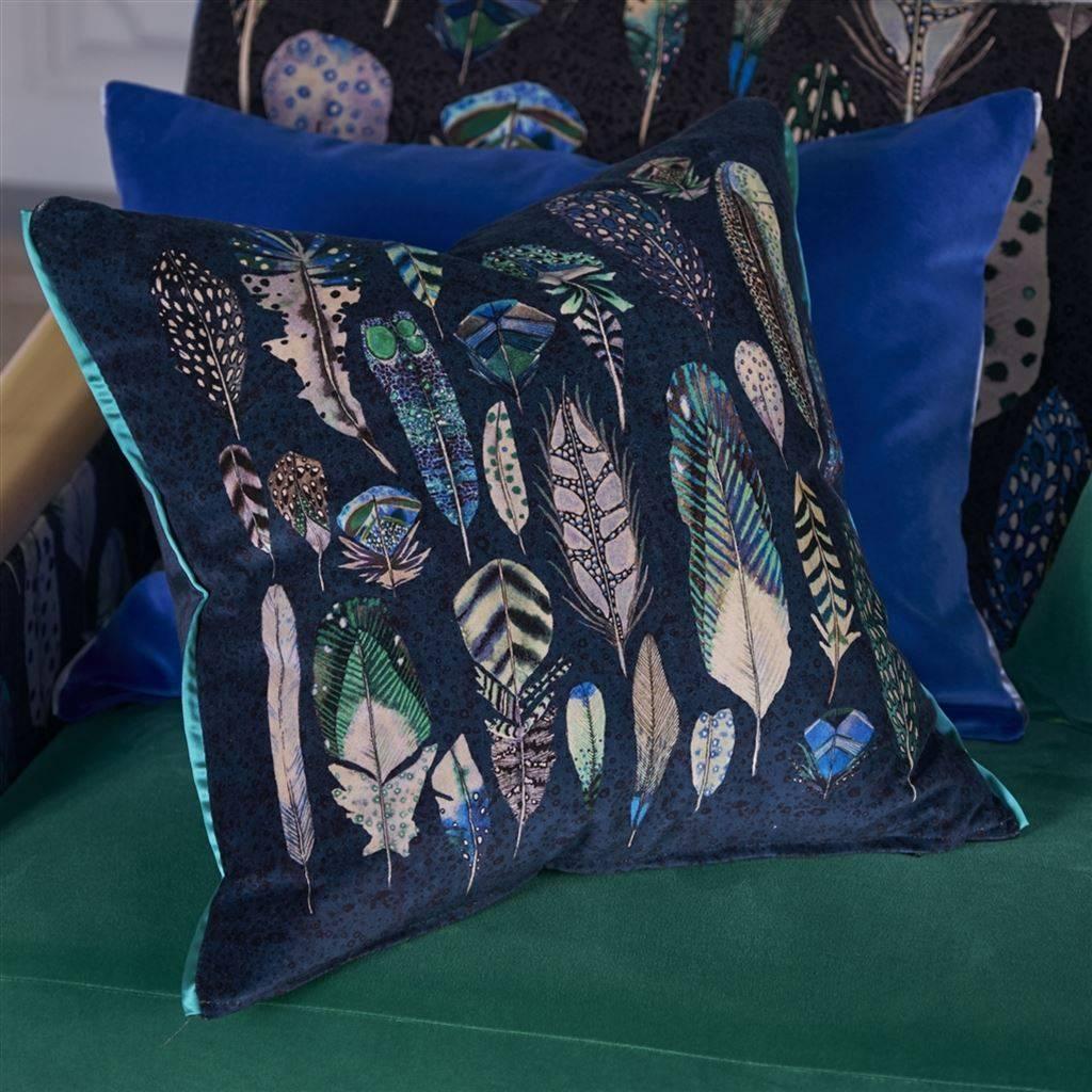 Designers Guild Kissen Quill Cobalt 50x50cm