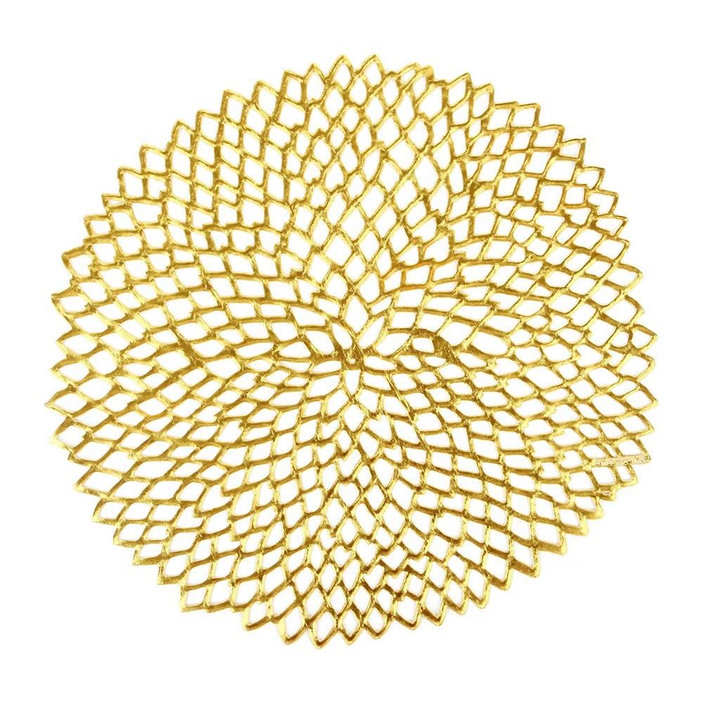 chilewich Tischset Dahlia gelbgold-glänzend