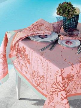 Garnier Thiebaut Tischdecke Corail Rose 115x115cm