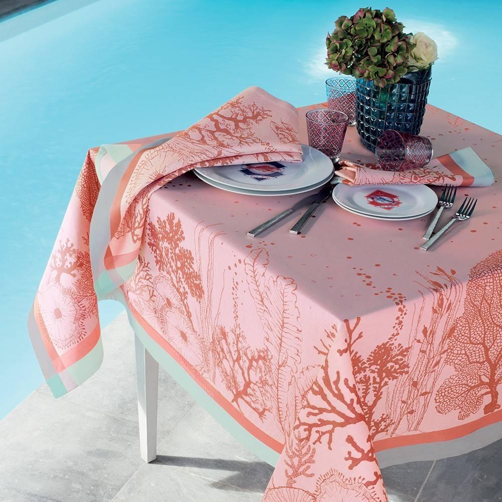 Garnier Thiebaut Tischdecke Corail Ros 115x115cm