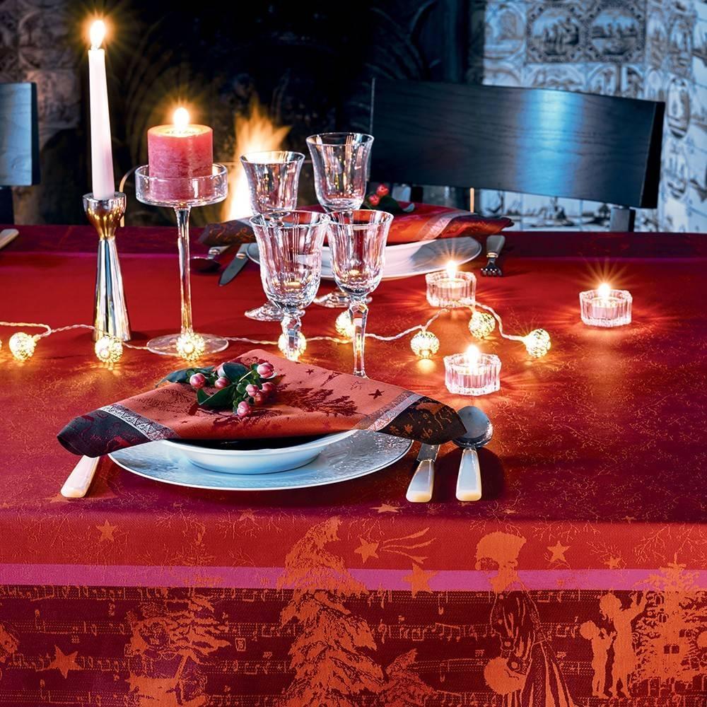 Garnier Thiebaut Tischläufer Chant de Noel 55/150 cm  Bordeaux