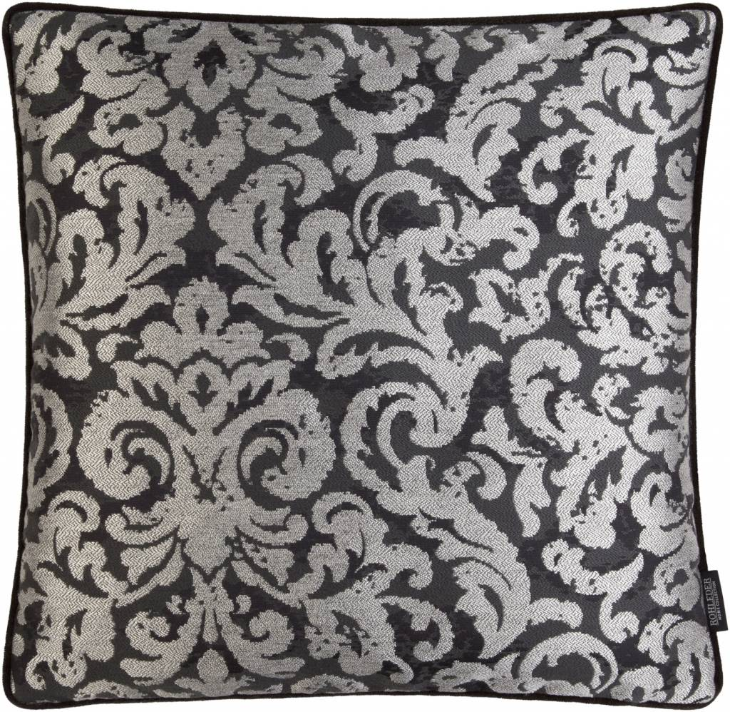 Rohleder Kissen Baroque Farbe Diamand Grey, Größe 50/50 cm