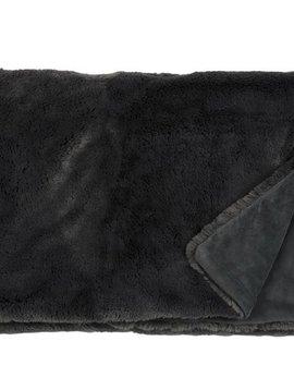 fine Webpelzdecke Furry, Farbe slategrey, 140 / 190 cm