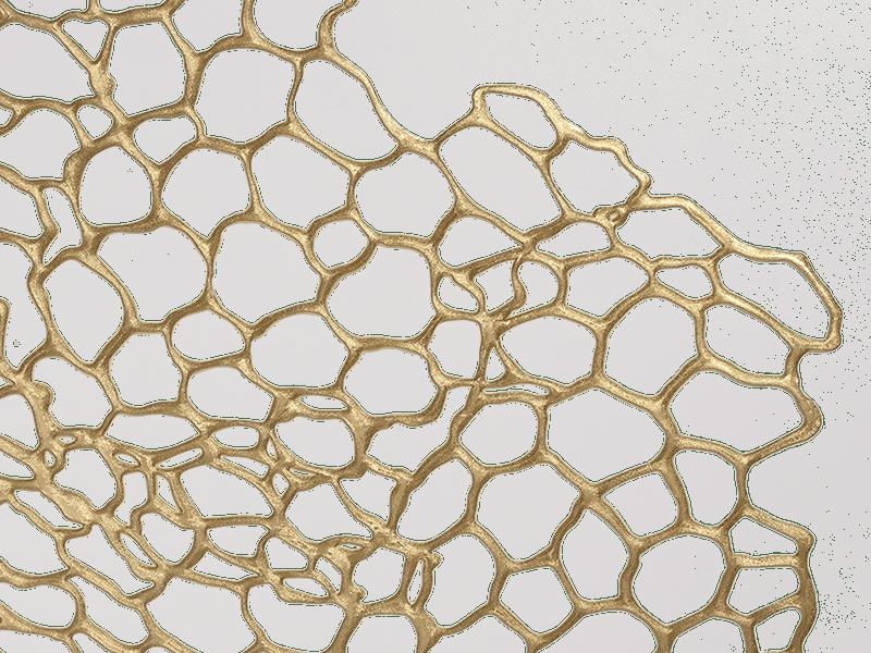 chilewich Tischset Sea Lace Brass 35x45cm, gold