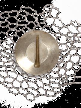 chilewich Tischset Sea Lace Brass 35x45cm, gun metall