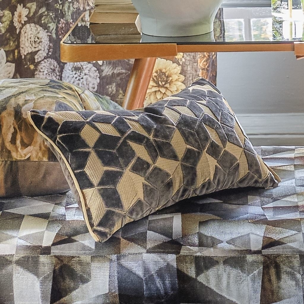 Designers Guild Kissen Fritzovia Espresso 50x30cm