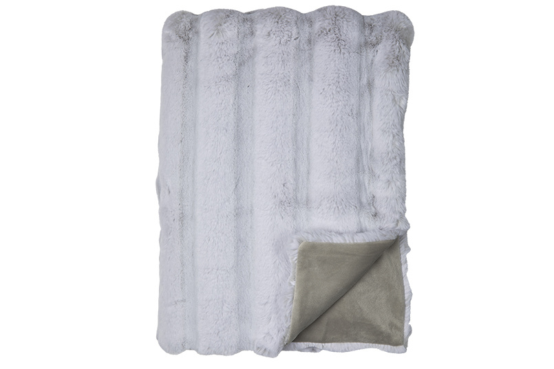 fine Plaid Luxor Silver 140x190cm