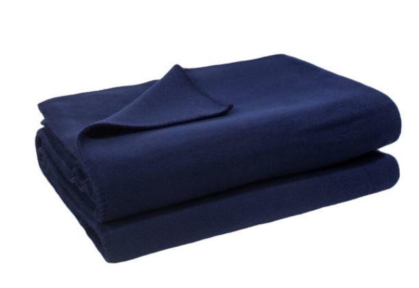 zoeppritz Soft-Fleece 160/200 cm Farbe dunkelblau 595