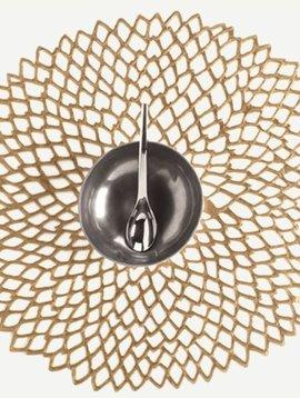 chilewich Tischset Dahlia goldfarben-matt, Brass