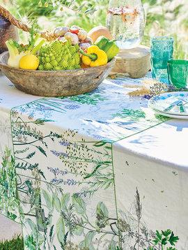 Garnier Thiebaut Tischläufer Jardin Aromatique Floraison 50x150cm