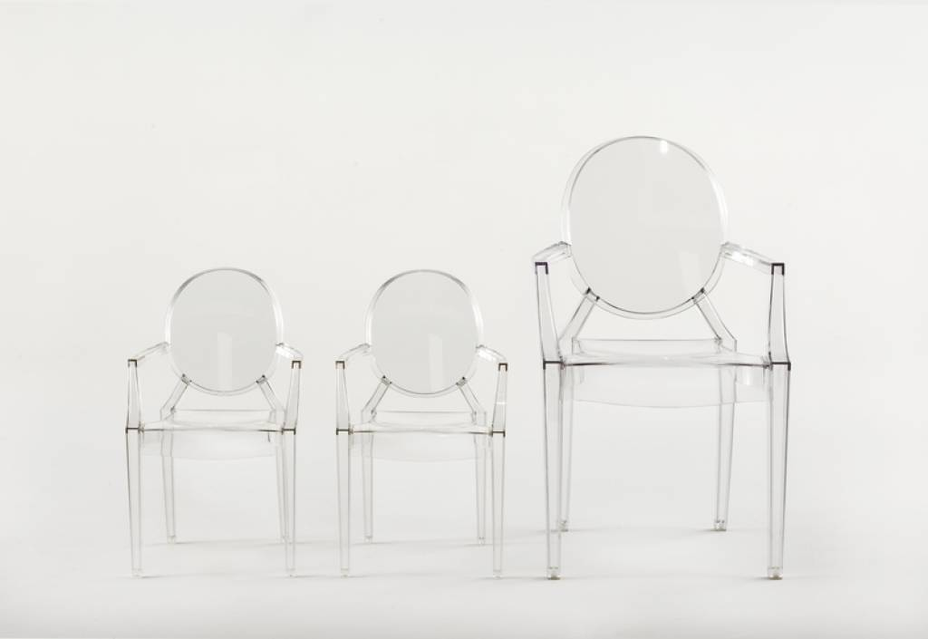 Kartell LouLou Ghost by Philippe Starck, glasklar