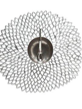 chilewich Tischset Dahlia Silver 36x39cm