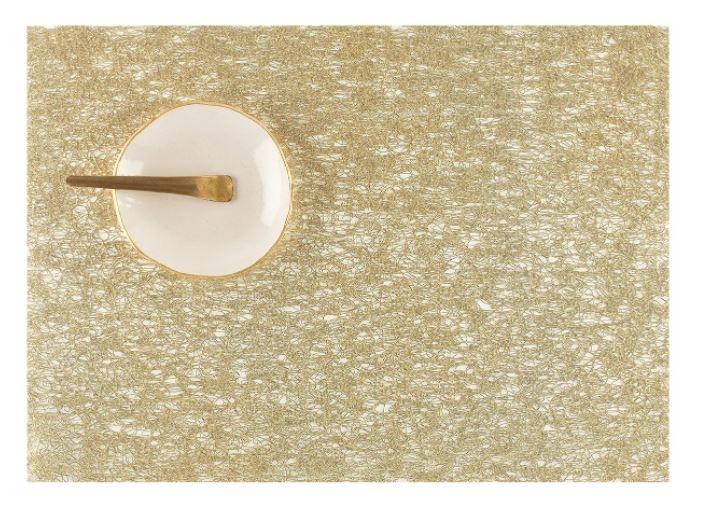 chilewich Tischset Metallic Lace Gold 33x46cm