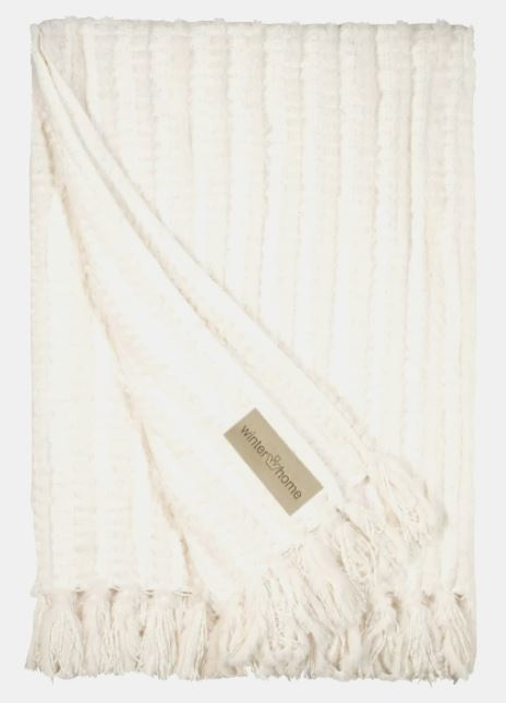 Winter Home Plaid Galloway White 130x180cm