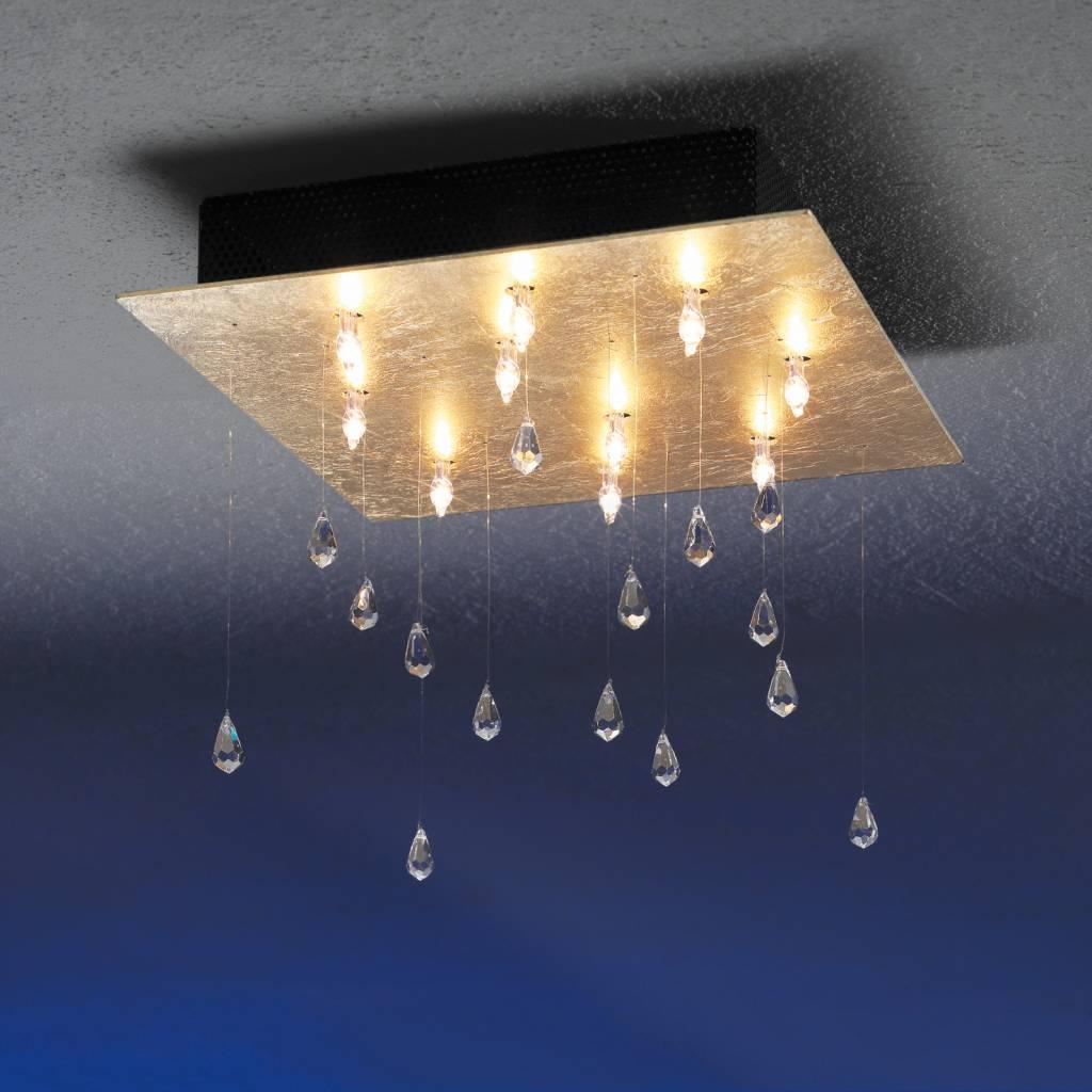 Escale Crystal Rain, Deckenleuchte mit 15 SWAROWSKI-Steinen