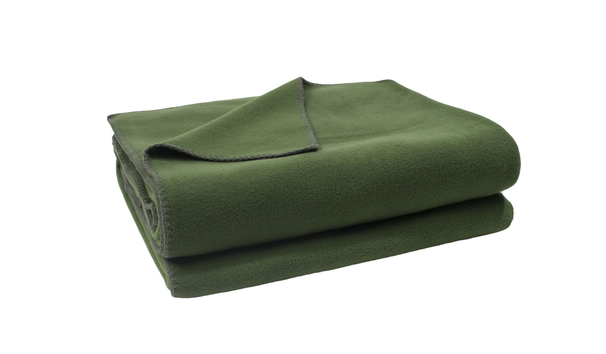 zoeppritz Soft-Fleece 160x200cm Farbe 661 tannengrün