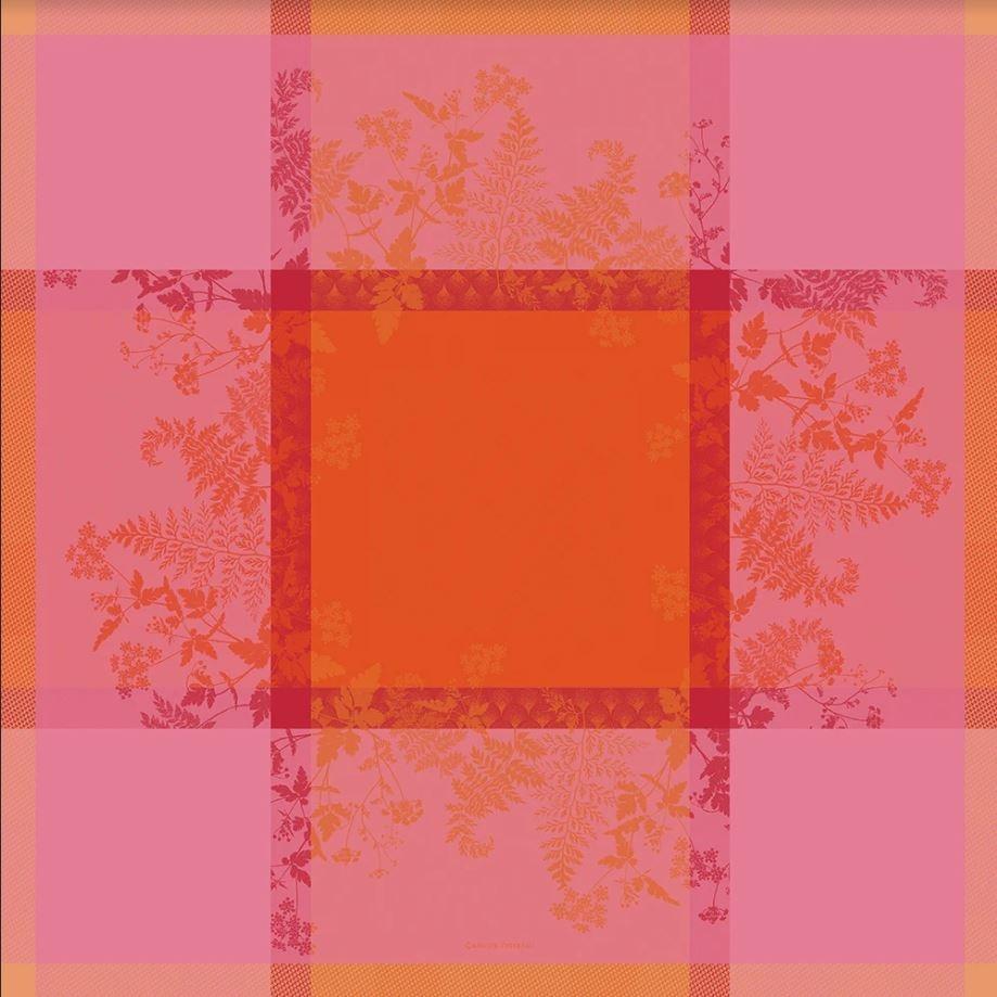 Garnier Thiebaut Tischdecke Ombelles rose 174x174cm