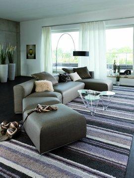 JAB Teppiche Handtuftteppich Spotline, Farbe multi-dark-grey