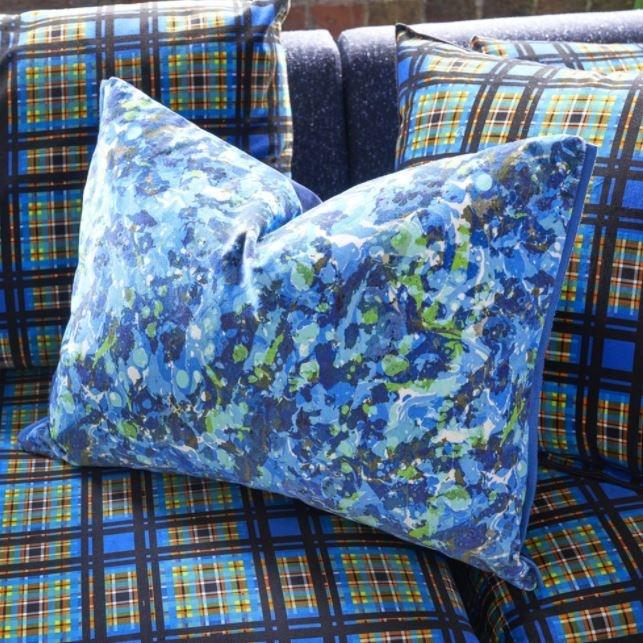 Designers Guild Kissen Odisha Cobalt 60x45cm