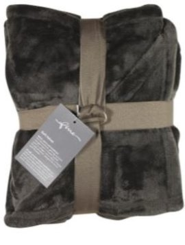 fine Plaid Softvelvet, black, 140/200cm