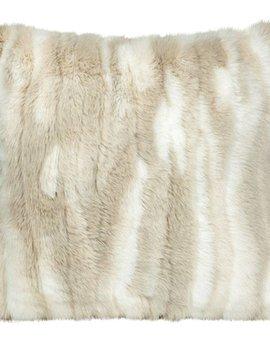 fine Webpelzkissen Chinchilla, 45/45 cm