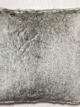 fine Webpelzkissen Silverfox, 45/45 cm