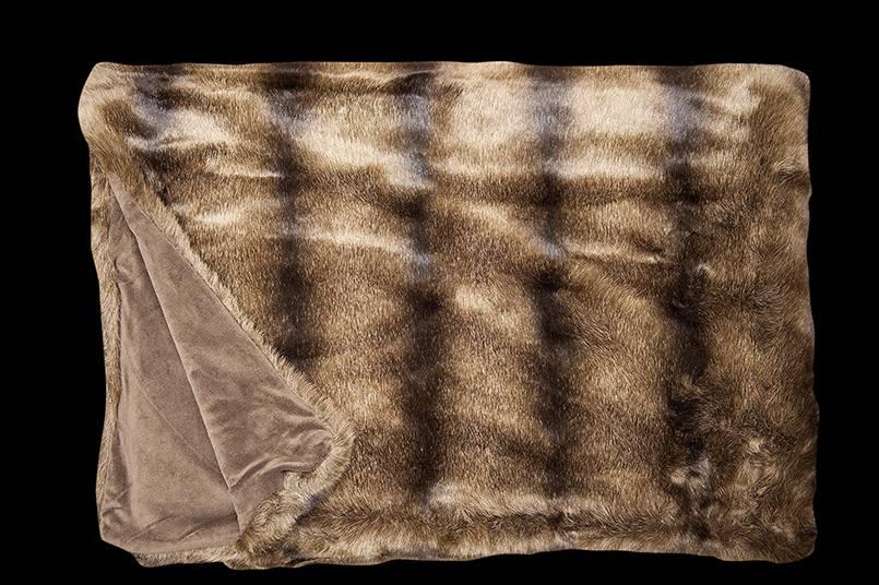 fine Webpelzdecke Bear, braun, 140/190 cm