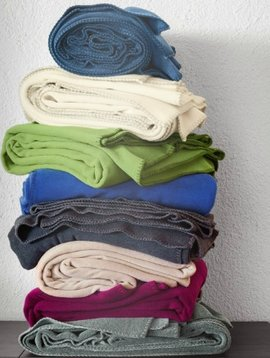 zoeppritz Soft-Fleece 160x200cm Farbe moosgrün 661