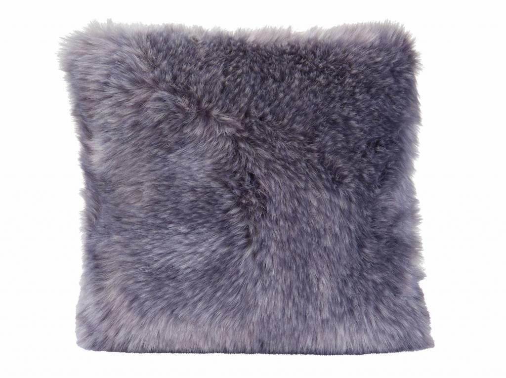 Winter Home Webpelzkissen Purplewolf, 45/45 cm incl. Füllung