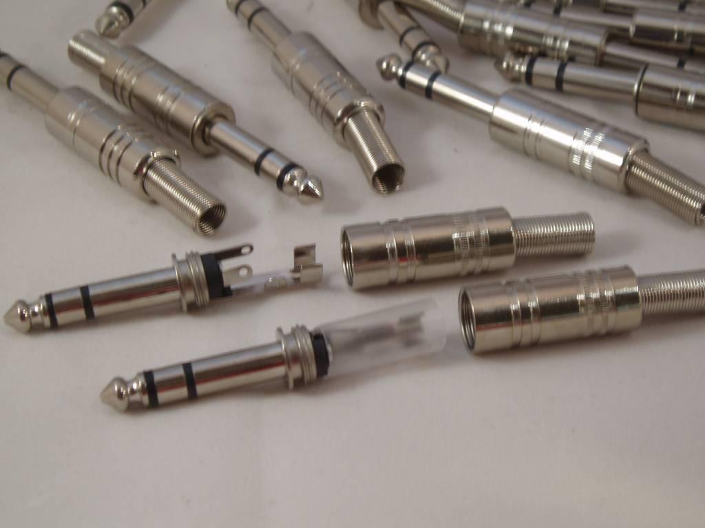 Hoofdtelefoon plug  grote 6.3 mm