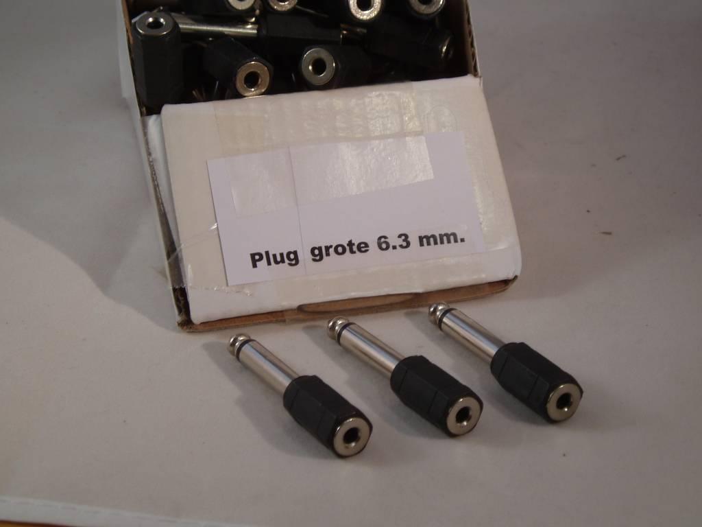 plug Grote verloop plug 6.3 mm. naar 3.5 mm
