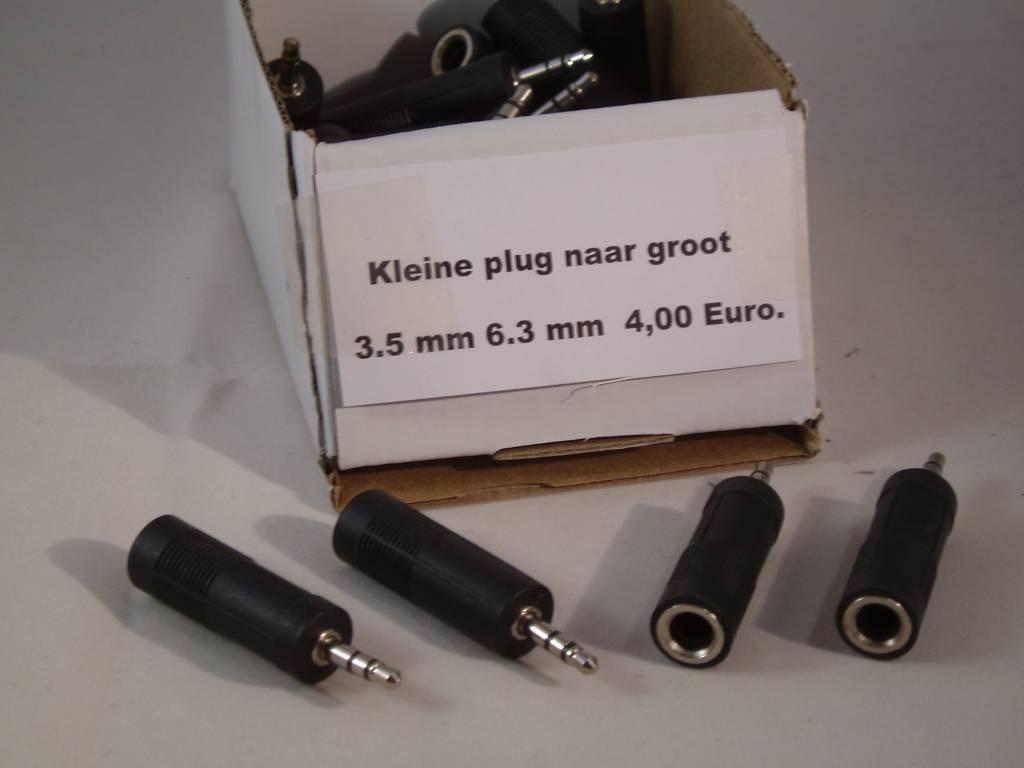 hoofdtelefoon plug Verloop plug van klein naar groot 3.5 mm 6.3 mm.