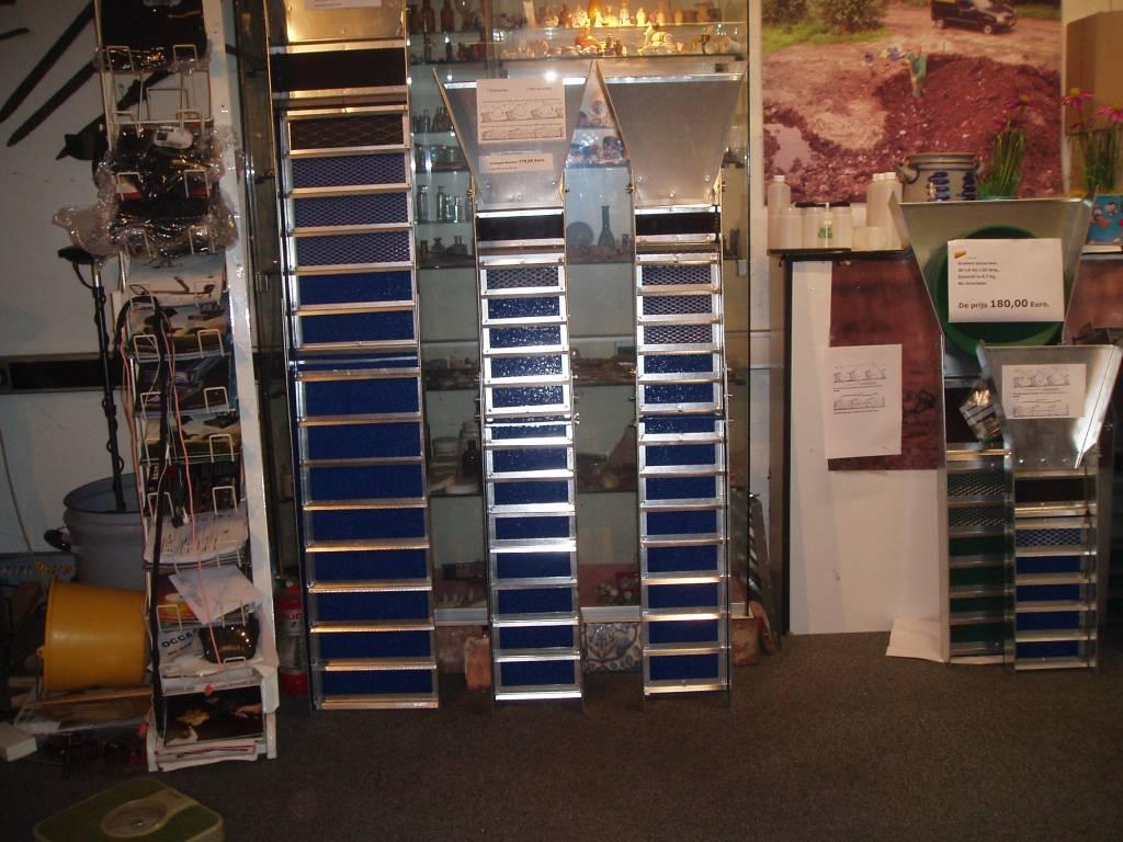 Goud zoeken Verlengde sluisbox voor met een schep 155 cm x 20,5 cm