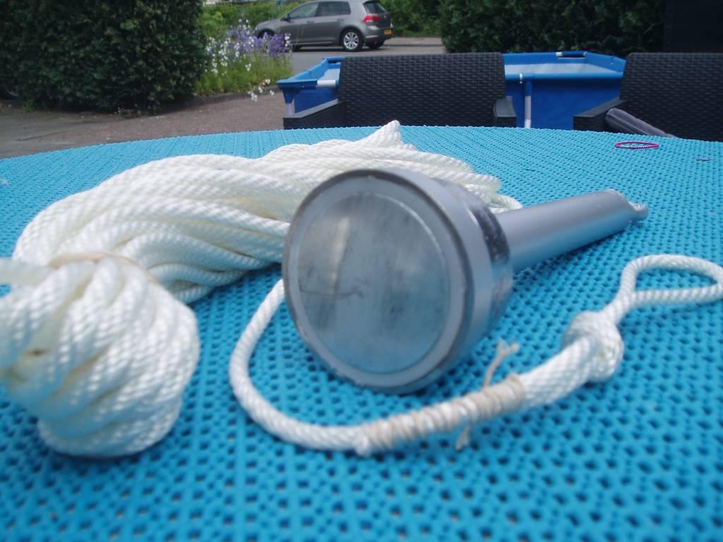 Magneet Staafmagneet 160 KG met lood verzwaring en 25 meter touw