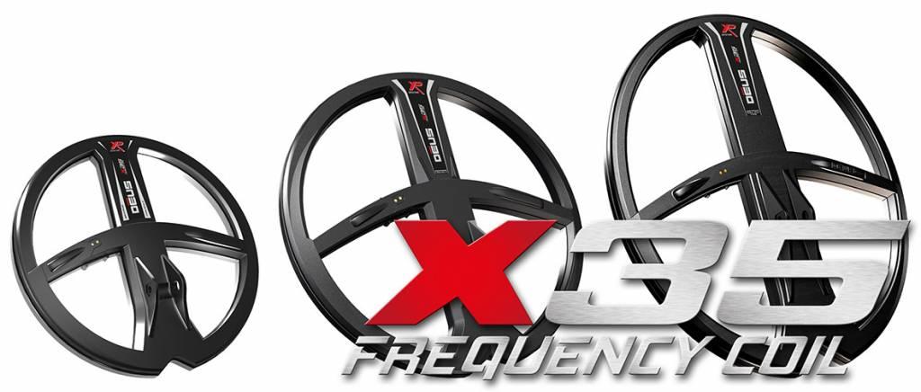 XP Zoekspoel XP Deus X35 Coil is groot 22 cm.